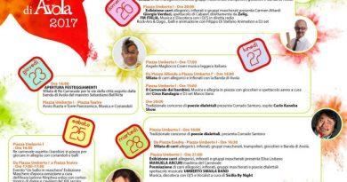 Avola: definito il programma della 56esima edizione del Carnevale