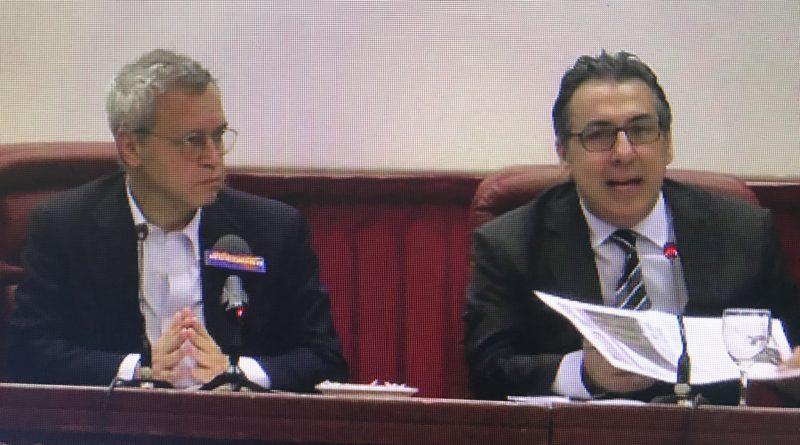 Video – Enrico Mentana e Sebi Roccaro alla presentazione del convegno sulle tecniche del giornalismo televisivo