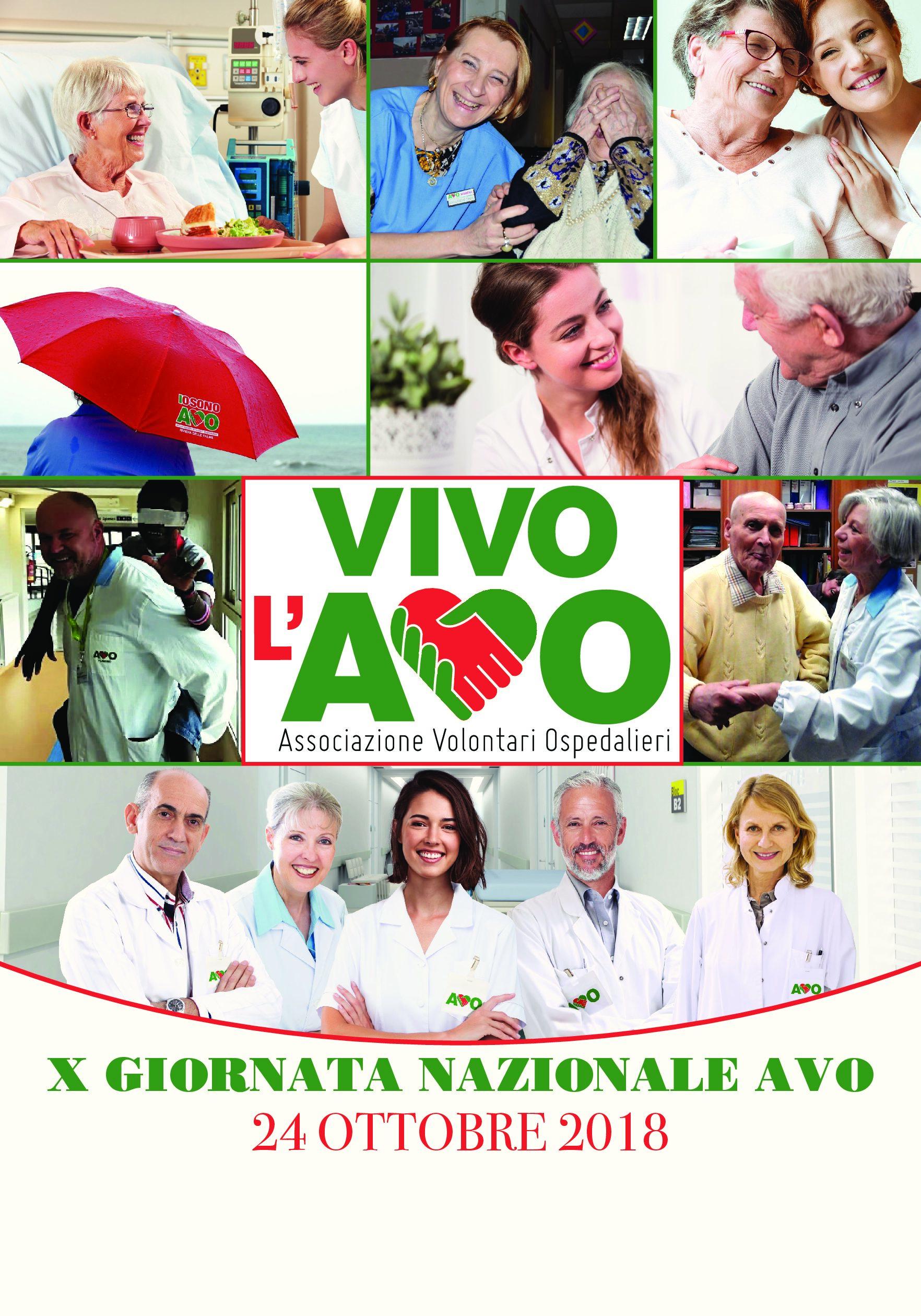 Il 24 ottobre l'Associazione Volontari Ospedalieri festeggia la decima giornata nazionale