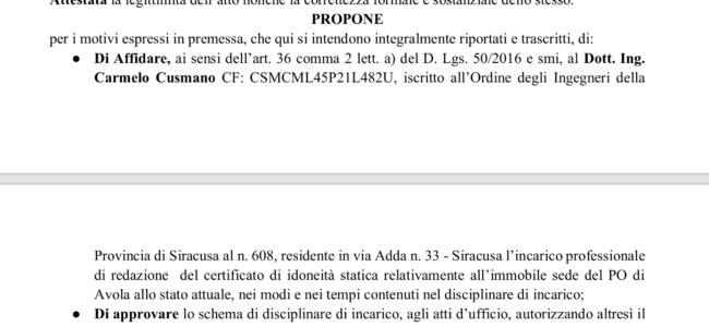 Opedale di Avola Delibera n. 215 del 18/6/2019